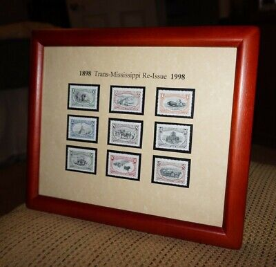 1998 Framed Trans-Mississippi Stamp Re-issue Complete MNH Set of 9 #3209 a-i