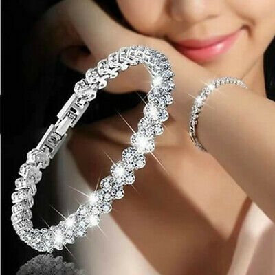 New Fashion Ladies Roman Style Woman Crystal Diamond-Studded Bracelets Gifts