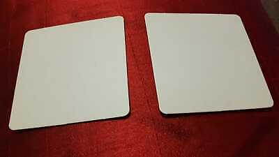 100 Pcs Drink Cardboard Square Coaster - 9.5 Cm Square - White - Party Supply