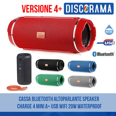 Cassa Bluetooth Portatile Usb Mp3 Aux Speaker Smartphone Tablet Pc Wireless Wifi