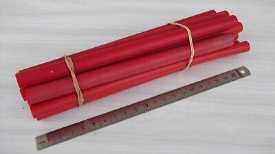 Old red galalith rods / bâtons de galalithe rouge 402 grammes