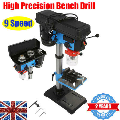 Professional Bench Top 9 Speed Pillar Drill Press & Table Stand 16mm Chuck 220V