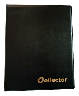 BLACK COLLECTOR HOLDER COIN ALBUM FOR 60 COINS IN COIN Self Adhesive  Holders
