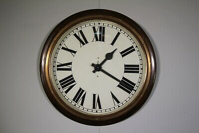 Large Edwardian Antique Post Office Wall Clock-Working
