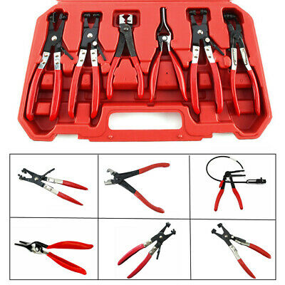 Car Fuel Oil Water Pipe Install Tool Flexible Lock Hose Clip Clamp Plier Kit Set