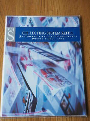 WH Smith Collecting System Refill. 5 x 2 Pocket First Day Cover Leaves. CCR1