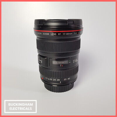 CANON EF 17-40MM F/4L USM Camera Lens - Black