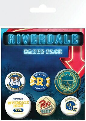 Riverdale Mix 6 Pin Assorted Badges Badge Pack