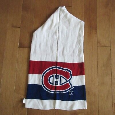 2017 2018 Montreal Canadiens Scarf Banque Scotia Giveaway Habs Nhl Hockey