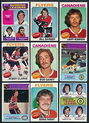 1975-76 Topps Hockey Complete Your Set  (see list)  #201-330  ($0.99 - $7.00)