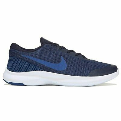 26f4673c37d2 Nike Flex Experience RN 7 WIDE 4E AA7405-003 Blue Black Wht Men s Running  Shoes