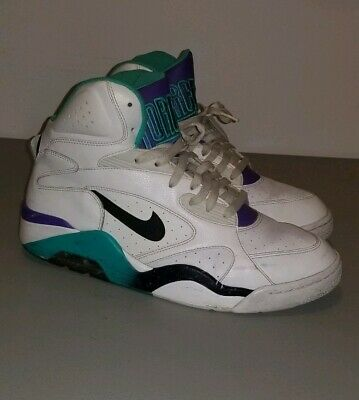 4f58c6dbf4 Nike Air Force 180 Mid Retro Barkley White Teal 9 537330-102 Size 10.5