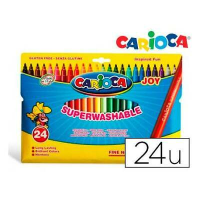Carioca JOY Rotuladores 24 colores SUPER LAVABLES