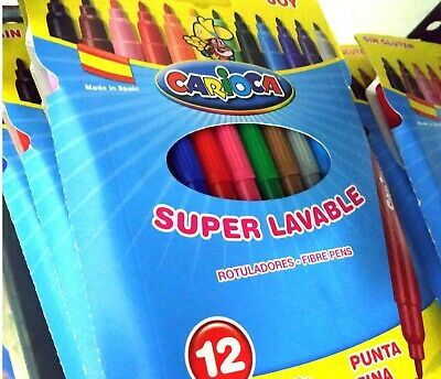 CARIOCA JOY Rotuladores 12 colores SUPER LAVABLES