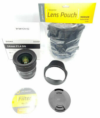 STORE DEMO Sigma 24mm f/1.4 DG HSM Wide Angle Lens (Art) for Canon DSLR MINT