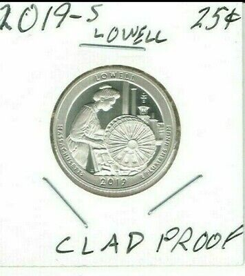 2019-S San Francisco Proof Lowell National Historical Park 25 Cent Coin!