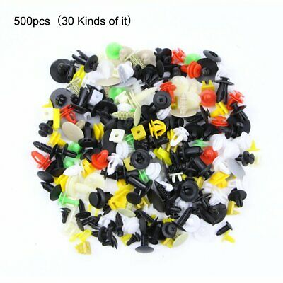 500PCS Car Body Trim Clip Rivet Push Pin Fastener Fender Bumper Panel Universal