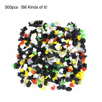 500PCS New Auto Body Trim Clip Rivet Push Pin Fastener Car Fender Bumper Panel