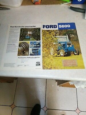 ford tractor 5600 sales brochure 12 page