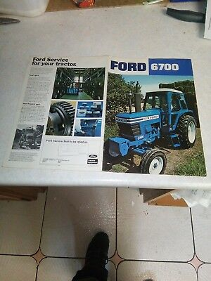 ford tractor 6700 sales brochure 8 page
