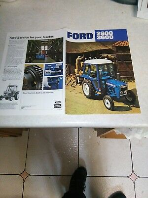 ford tractor 2600 3600 sales brochure 8 page