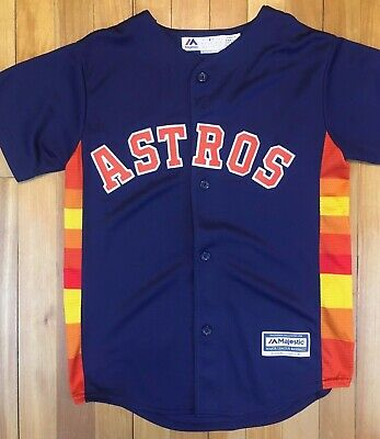info for 0c3c8 a5bd1 HOUSTON ASTROS JOSE Altuve Majestic Blue Jersey Youth Medium 10-12 Fits big