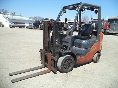 2009-2010 Toyota 8FGCU25, 5,000#, 5000# Cushion Tired Forklift, Trucker Special
