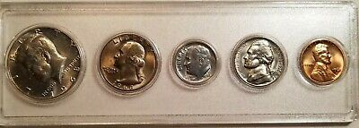 1968-D Uncirculated Mint State Coin Set in Plastic Holder 40% Silver Half