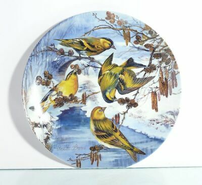 Collection Plate Hutschenreuther Bird Erlenzeisige at Bach with Certificate Ovp