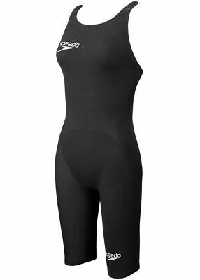 dbb753a120 NEW Speedo Lzr Elite 2 CLOSED back kneeskin fast tech suit BLACK size 18  EURO