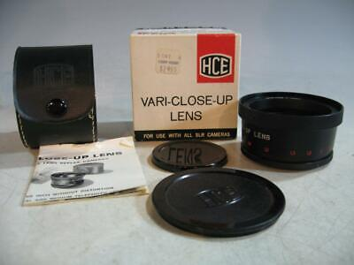 HCE 55MM Filter Ring Vari-Close-Up Lens For Use With All SLR Cameras In Box #4