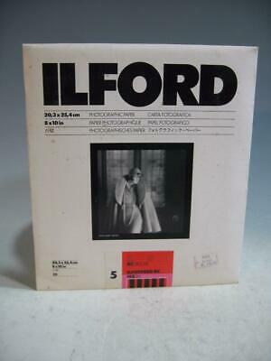 Ilford 8X10 Ilfospeed RC Deluxe IS5.1M B&W Paper Gloss Finish 15 Sheets-Opened W