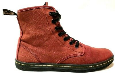 3e3ad46ff0502 DR. MARTENS WOMENS Shoes Size 7 Shoreditch Air Wair High Top Canvas ...