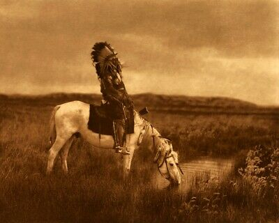 Oasis in the Bad Lands - Edward Curtis Native American Photo