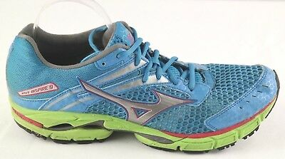 cb1a7b9530c3 Mizuno Wave Inspire 9 Running Shoes Womens Size 11 Blue Green Sneakers NO  INSOLE