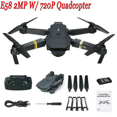E58 WIFI FPV 2.4G 4CH 6 Axis Mit 720P 2MP HD Camera Foldable Drone RC Quadcopter