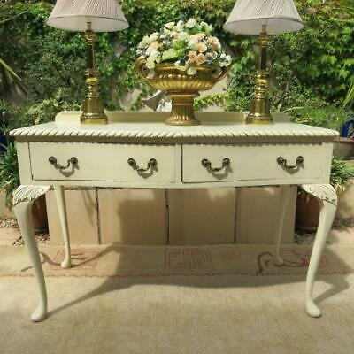 FRENCH PROVINCIAL DESK DRESSING TABLE or HALL CONSOLE DISPLAY TABLE VINTAGE