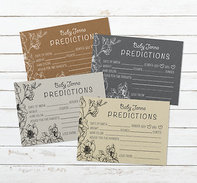 Personalised Baby Shower Games | Prediction & Advice Cards for New Mum To Be