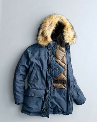 b7e20b190 J.CREW NORDIC DOWN parka with eco-friendly Primaloft - Navy XS