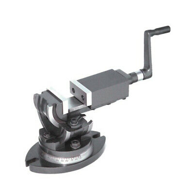 """New 3Way Angular Vise 2/""""//50MM Titling Type With Swivel Base 90°Vertical Indexing"""
