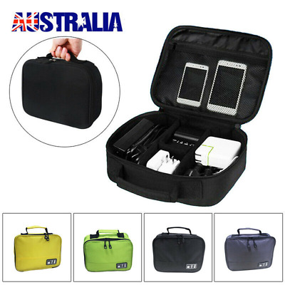Travel USB Cable Storage Bag Electronic Accessories Organizer Bag Charger Case