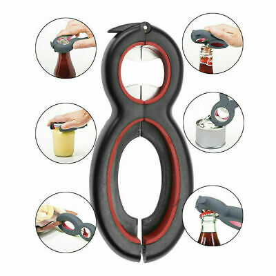 Multi-Tool 6 in 1 Bottle Soda Soup Can Jelly Jar Beer Opener Twist off Remover
