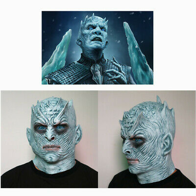 Game of Thrones Night's King Latex Mask White Walker Cosplay Face Zombie Helmet
