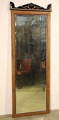 Tall carved antique full length mirror carved French Art Deco ornate Biedermeier