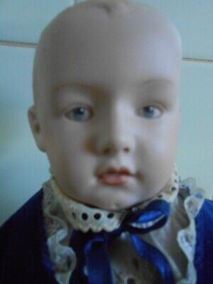 Reproduction Antique Boy Doll --Marked 'heubach' Germany