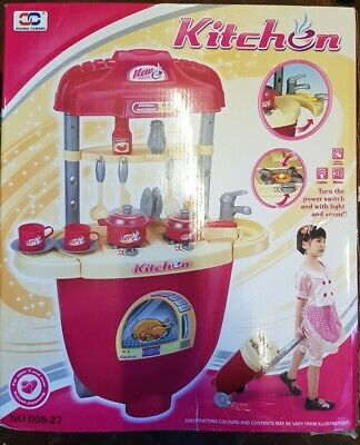 FunkyBuys Children Kitchen Toy Playset Superior set Lights and Music Brand New