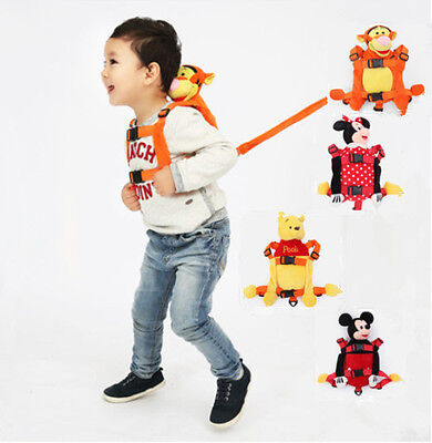 Baby Toddlers Kids Safety Walking Reins Backpack Harness with Strap Bag Toy New