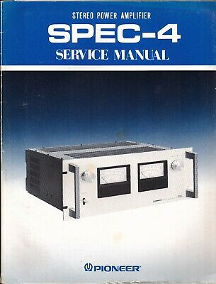 Pioneer SPEC-4 Original Service Manual. Money Back Guaranty