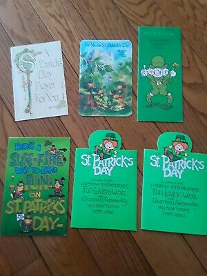 Vintage St.  Patrick's Day American Greetings Card Lot(6)... New Old Stock