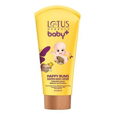 Lotus Herbals Baby+ Happy Bums Diaper Rash Crème 100 grams
